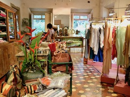 Shopping in Rangeela Boutique in Assagao and meeting inspiring people for dinner at Villa Blanche.