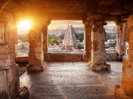 Meditate close to divinity - we visit the Hampi temples and get inspired by their beauty and spirituality.